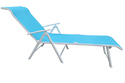 Folding Pool Lounger - Metal - Blue