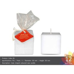 Small Cube Shape Candle