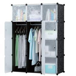 Plastic Cloth Rack Multi Use Clothes Organizer, Bookcase, Storage Cabinet, Wardrobe (IT N - STW025)
