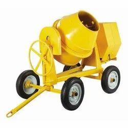 Green And Yellow Construction Mixer Machine