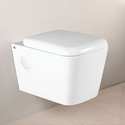 White Ceramic Wall Hung Toilet