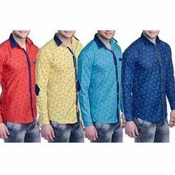 Cotton Printed Men's Party Wear Shirt