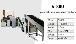 V-800 Automatic Wire Granulator Machine