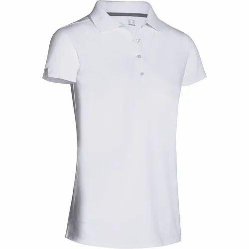 f76646d8 White Plain Ladies Polo T Shirt, Rs 235 /piece, Royal Jack ...