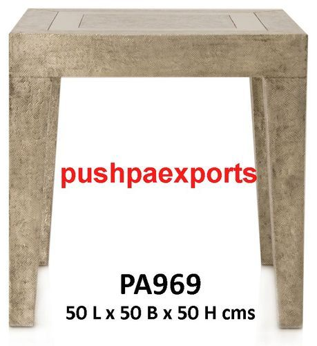 Silver Contemporary Side Table