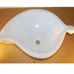 Leaf Shaped Marble Wash Basin