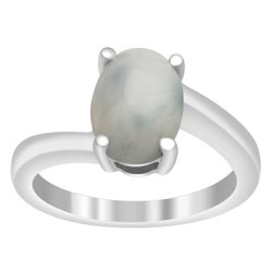 2.50 Ctw Larimar Sky Gemstone Split Shank Birthstone 925 Sterling Silver Ring