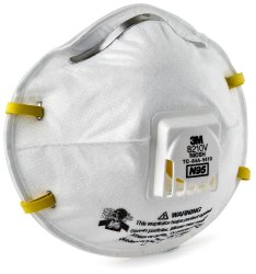 3M Particulate Respirator 8210V, N95 for Pharma Industry