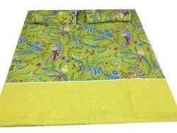 Quilted Bed Cover With Pillow Cover Cotton Quilt