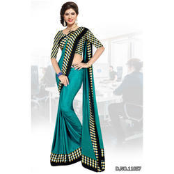 Aqua Green Uniform Sarees