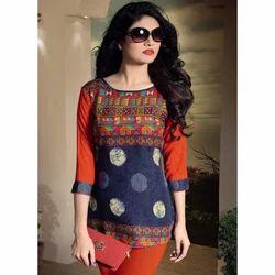 Ladies Textiles Designer Tops