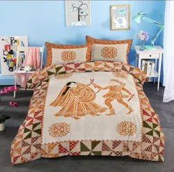 Cotton Dancing Dandiya Double Bedsheet