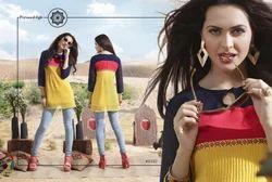 Multicolor Designer Georgette Kurti