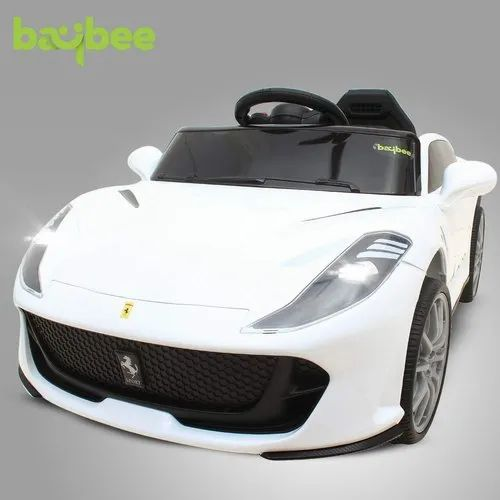 White Ferrari Battery Operated Car At Rs 11990 Piece Baby Battery Car Id 22171000948