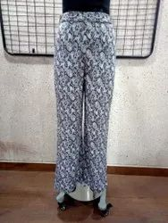 Ladies Printed Poly Ravera Trouser