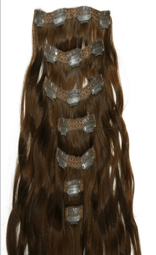 Hritik Brown Clip Ins - 6 Hair Extensions