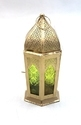 Iron, Glass Gold Col Antique Hanging Lantern, Size: 12 X 11 X 24.50 Cm