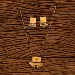 Antique Delicate Pendant Set with Gold Plating 200508, Size: Length = 20 Inch