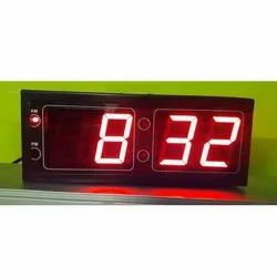SS Techno Colour Changing 1 Inch 7 Segment Display LED Clock