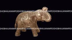 Elephant Fiber Statue