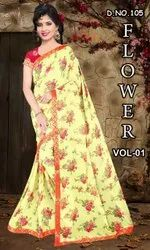 Floral Printed Weightless Saree