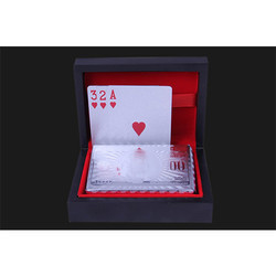 Silver and gold Plated Playing Card