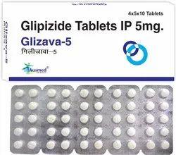 GLIZAVA-5 Glipizide IP 5mg, 4X5X10