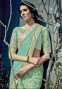 Pastel Green and Mint Green Designer Lehenga Saree