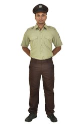 Men Khaki Police Uniforms, Size: XL