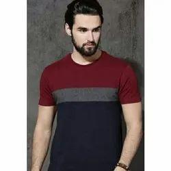 Round Neck Plain Mens Fancy T- Shirt