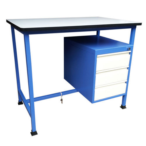 Metal Blue & White Study Table