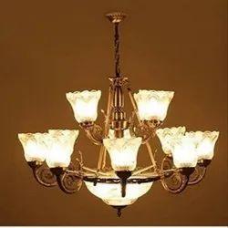 4012-15 Antique Chandelier Light