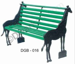 Animal Shape Cast Iron Garden Bench