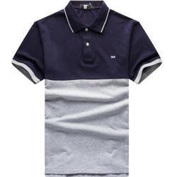 Cotton Plain Collar T-Shirts, Size: Small