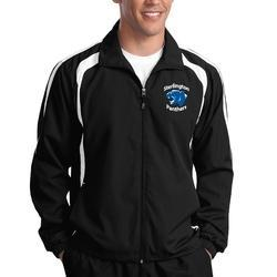 Black Cotton School Sports Jacket
