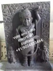 Dwarkadhish black stone statue