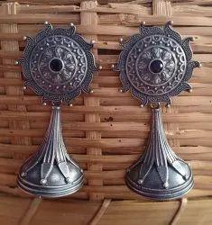 23 gm Silver Look Alike Brass Earrings