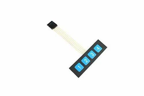 MEMBRANE KEYPAD 4X1, Electric Circuit Components & Spares