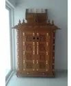 Wood Bhuvaneswari Divine Puja Mandapam, For Home Temple