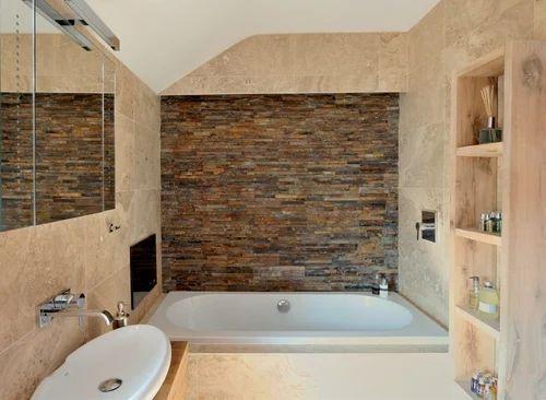Mudra Plain Bathroom Natural Stone Tiles, 15-20 mm