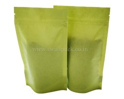 Green Paper Stand up Pouches