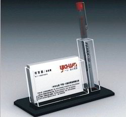 Acrylic Pen Stand Cum Card Holder