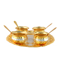Designer Gold & Silver Plated Handi Set