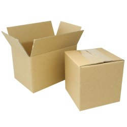 Cardboard Single Wall - 3 Ply Corrugated Shipping Boxes, Box Capacity: 1-5 Kg