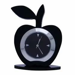 Good Looking Apple Shape Analog Clock,Office Table Clock, (Black  Color)