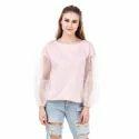 Ladies Plain Stylish Top, Size: S, M & L