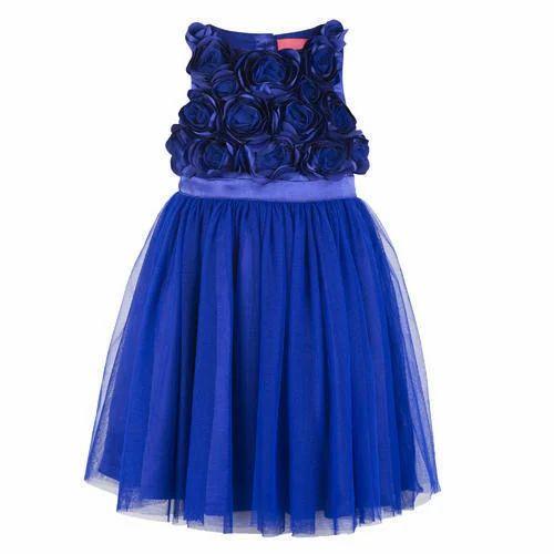663c9f45c Royal Blue Baby Girls Fancy Frock Dress