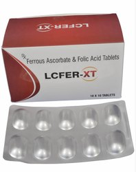 Lcfer-XT Ferrous Ascorbate - Folic Acid Tab, Packaging Type: Alu Alu