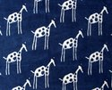 Sanganeri Hand Block Animal Print Vegetable Blue Cotton Fabric