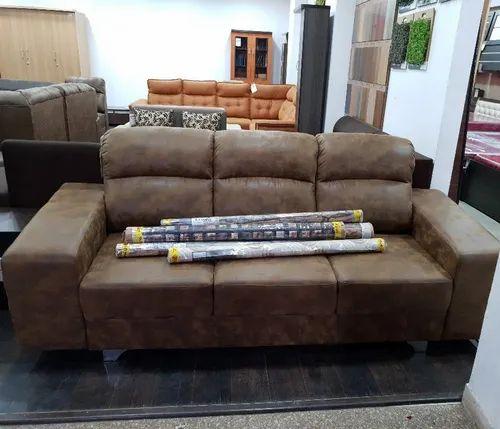Brown 3 Seater Designer Sofa